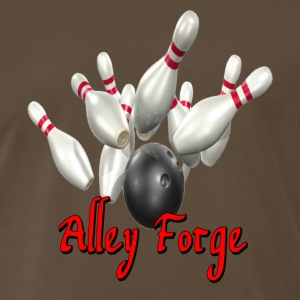 Brown Bowling Team Alley Forge T-Shirts - Men's Premium T-Shirt