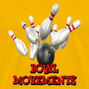 Yellow Bowling Team Bowl Movements T-Shirts - Men's Premium T-Shirt