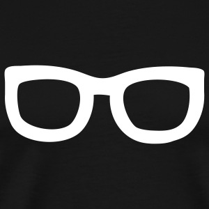 Black nerd glasses T-Shirts - Men's Premium T-Shirt