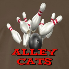 Brown Bowling Team Alley Cats T-Shirts