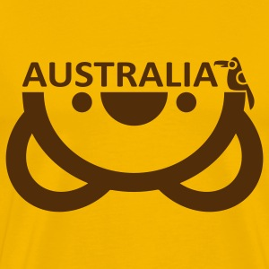 Yellow Australia T-Shirts - Men's Premium T-Shirt