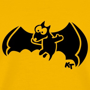 Yellow Flying Fox (dark) T-Shirts - Men's Premium T-Shirt