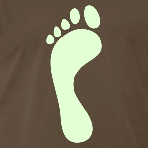 Brown single footprint T-Shirts - Men's Premium T-Shirt