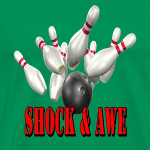 Sage Bowling Team Shock & Awe T-Shirts - Men's Premium T-Shirt