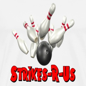 White Bowling Team Strikes-R-Us T-Shirts - Men's Premium T-Shirt