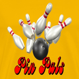 Yellow Bowling Team Pin Pals T-Shirts - Men's Premium T-Shirt