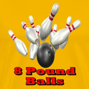 Gold Bowling Team 8 Pound Balls T-Shirts - Men's Premium T-Shirt