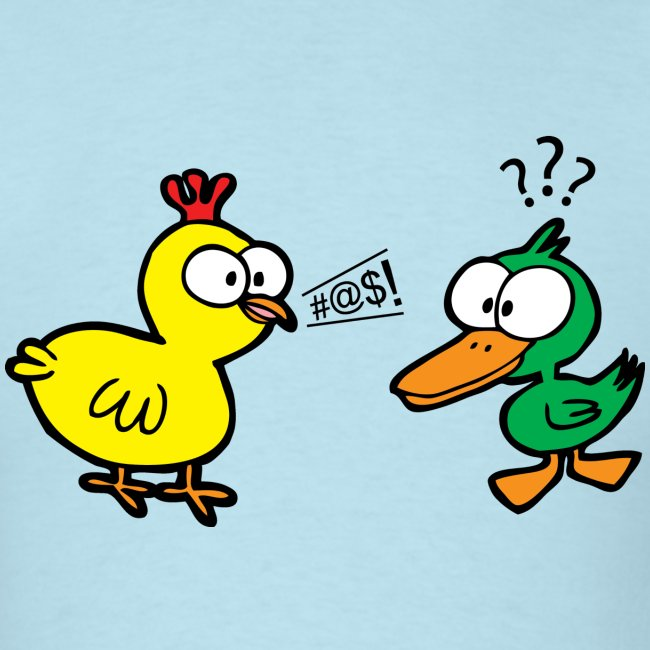 Chicken Talks to Duck! Men's Tee