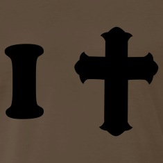 Brown i heart pray with fancy cross T-Shirts