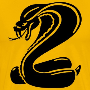 Yellow cobra T-Shirts - Men's Premium T-Shirt