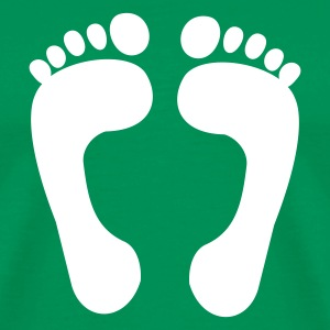 Sage foot - feet - foot print T-Shirts - Men's Premium T-Shirt