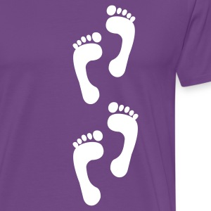 Purple foot - feet - foot print T-Shirts - Men's Premium T-Shirt