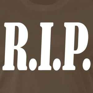 Brown RIP R.I.P. rest in peace T-Shirts - Men's Premium T-Shirt