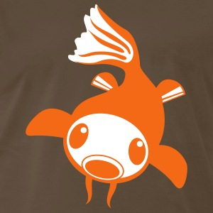 Brown cool koi fish alone T-Shirts - Men's Premium T-Shirt