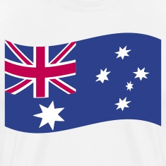 White australian flag in a wave shape T-Shirts