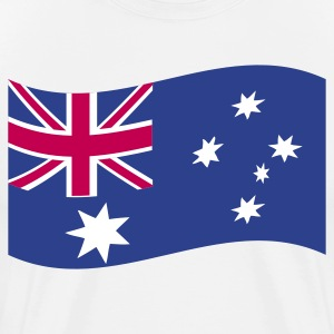 White australian flag in a wave shape T-Shirts - Men's Premium T-Shirt