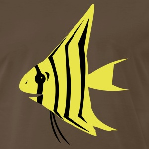 Brown angel fish  T-Shirts - Men's Premium T-Shirt
