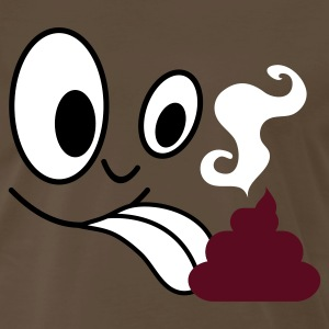 Brown face licking turd poo steaming  T-Shirts - Men's Premium T-Shirt