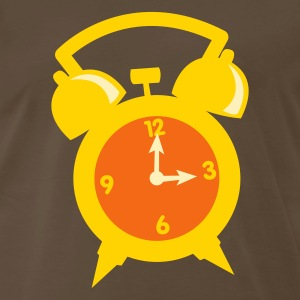 Brown an alarm clock at three 3 o'clock T-Shirts - Men's Premium T-Shirt