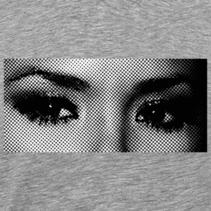 Heather grey pop art eyes T-Shirts - Men's Premium T-Shirt