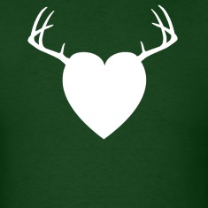 Forest green HEART ANTLERS T-Shirts