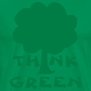 Kelly green think green T-Shirts - Men's Premium T-Shirt