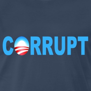 Navy Obama Corrupt T-Shirts - Men's Premium T-Shirt