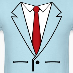 Business Suit with Red Tie