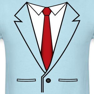 Business Suit with Red Tie - Men's T-Shirt