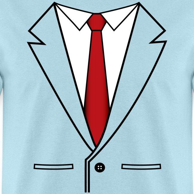 Suit Coat with Red Tie