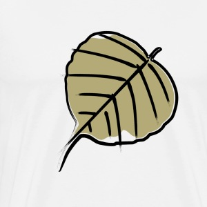 Bodhi leaf 02 - Men's Premium T-Shirt