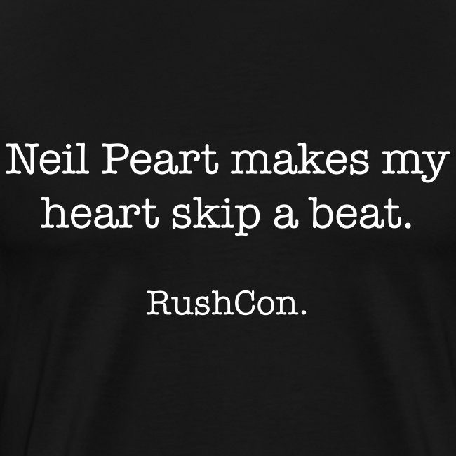 Neil Peart makes my heart skip a beat.