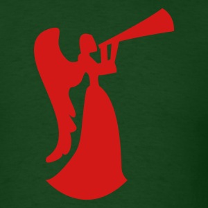 Forest green christmas angel blowing horn or drinking beer T-Shirts - Men's T-Shirt