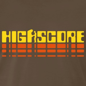 Brown Highscore2 T-Shirts - Men's Premium T-Shirt