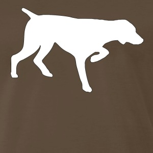 Brown GERMAN SHORTHAIRED POINTER T-Shirts - Men's Premium T-Shirt