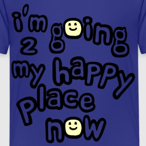 Royal blue I'm Going to My Happy Place Now With Happy Faces, No Bkgrd--DIGITAL DIRECT PRINT Kids' Shirts - Kids' Premium T-Shirt