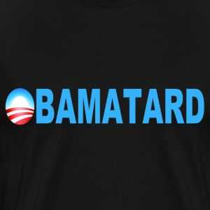 Black Obamatard T-Shirts - Men's Premium T-Shirt