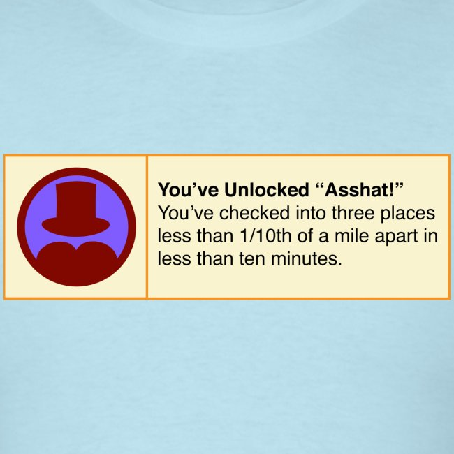 Asshat Fake 4sq Badge