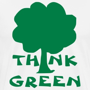 White think green T-Shirts - Men's Premium T-Shirt