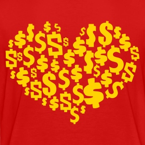 Red heart made of $ dollars ! Toddler Shirts - Toddler Premium T-Shirt