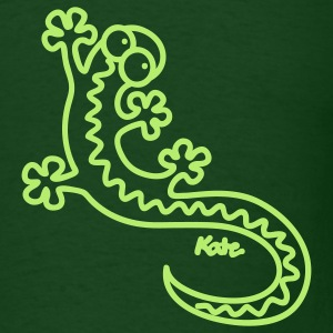 Forest green Gecko T-Shirts - Men's T-Shirt
