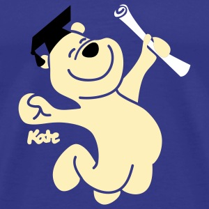 Royal blue Diploma Bear (3c) T-Shirts - Men's Premium T-Shirt