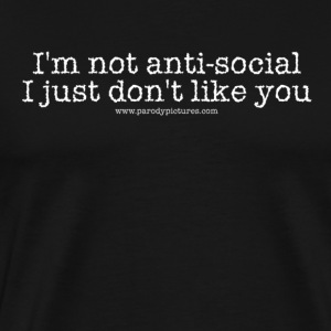 antisocial tee - Men's Premium T-Shirt