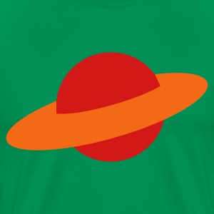 Kelly green planet space saturn T-Shirts - Men's Premium T-Shirt