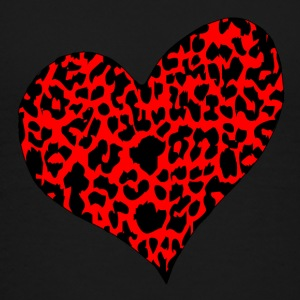 Red Cheetah Heart T-shirt - Toddler Premium T-Shirt