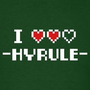 Forest green I Love Hyrule T-Shirts - Men's T-Shirt