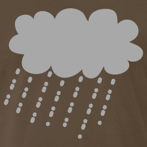 Brown raincloud rain cloud storm T-Shirts - Men's Premium T-Shirt
