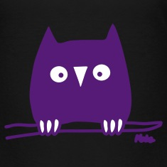 Black Owl (c) Toddler Shirts