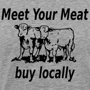 Heather grey meet your meat beef T-Shirts - Men's Premium T-Shirt