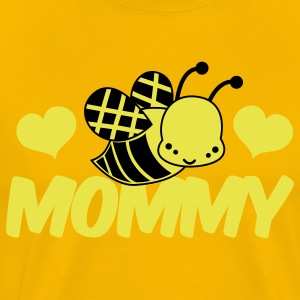 Gold love mommy cute bee honey T-Shirts - Men's Premium T-Shirt